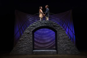 Melisa Pereyra as Juliet and Chris Klopatek as Romeo, Shakespeare-in-the-Schools production of Romeo and Juliet (Photo by Karl Hugh)