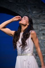 Melisa Pereyra as Juliet, Utah Shakespeare Festival's 2013 Shakespeare-in-the-Schools production of Romeo and Juliet. (Photo by Karl Hugh. Copyright 2013 Utah Shakespeare Festival.)