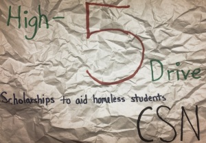 High-5 Drive scholarships for CSN homeless students