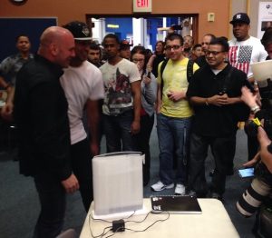 Dana White at CSN with students