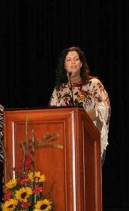 TRiO Honoree Award Night, Ayarza on stage