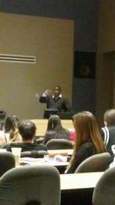 Professor Lonnie Wright, teaches hotel and hospitality
